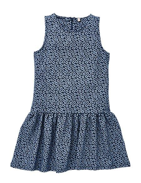 Cotton Rich Daisy Print Skater Girls Dress (5-14 Years)
