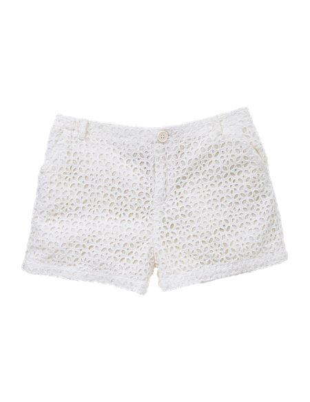 Pure Cotton Broderie Shorts (5-14 Years)