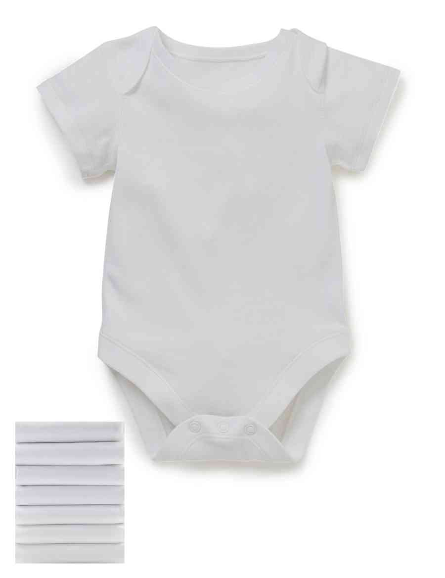 ec168266ed 7 Pack Pure Cotton Short Sleeve Bodysuit