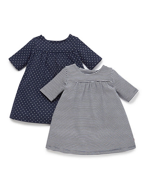 2 Pack Pure Cotton Assorted Dresses