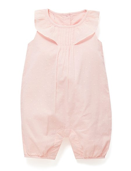 Pure Cotton Swiss Dot Romper