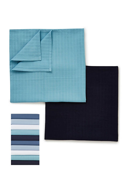 10 Pack Blues Muslin Squares