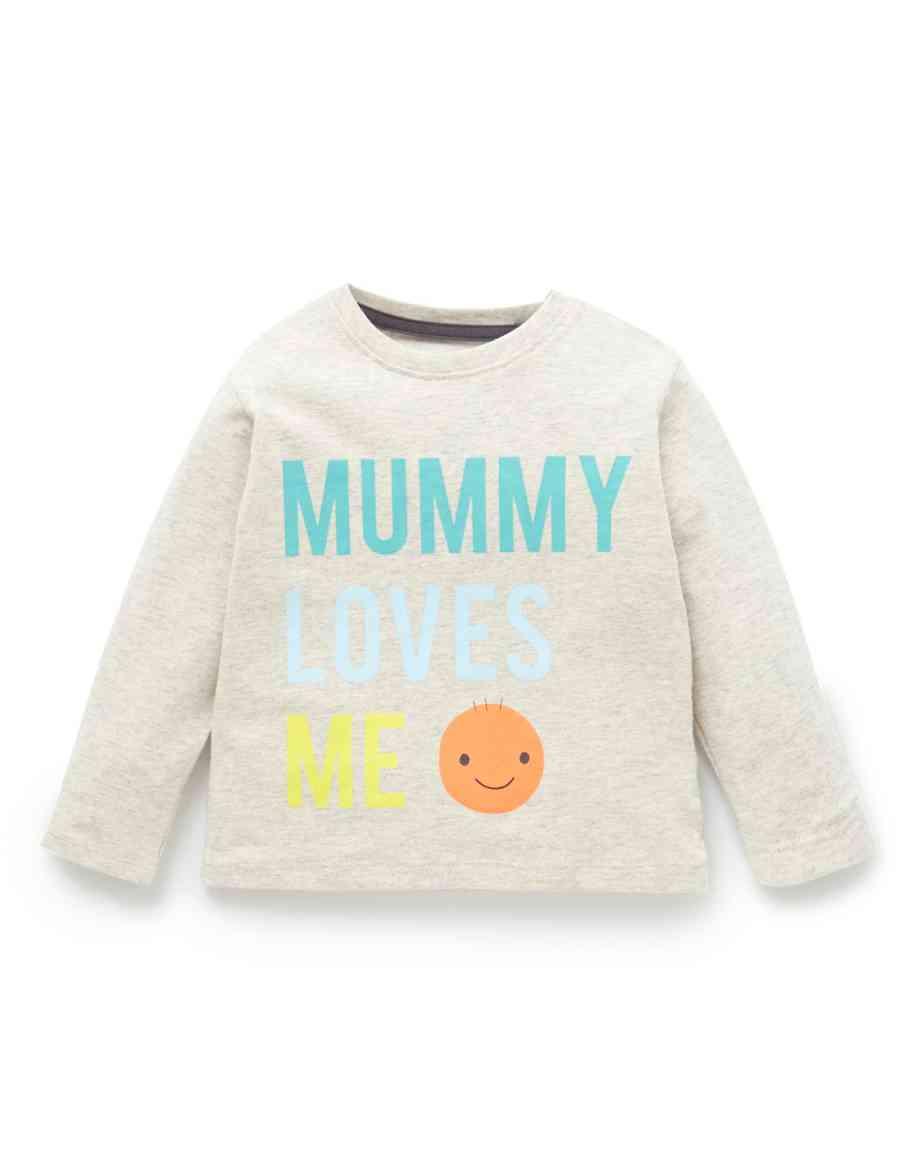 a1ef99bb Pure Cotton Mummy Loves Me Slogan Top | M&S