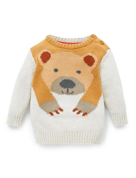 Pure Cotton Bear Print Jumper
