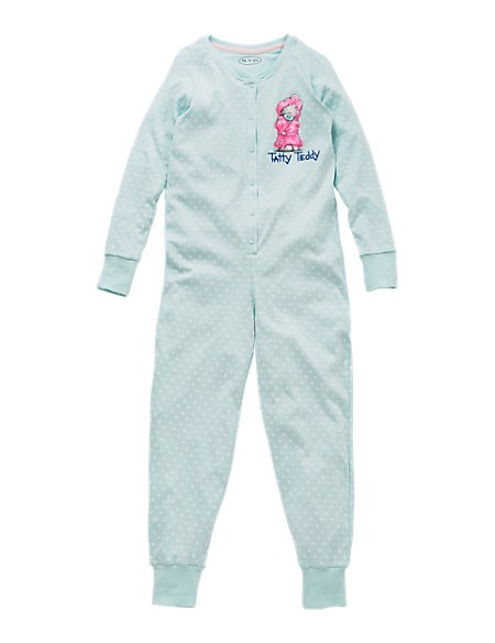 Pure Cotton Tatty Teddy Spotted Onesie (6-16 Years)