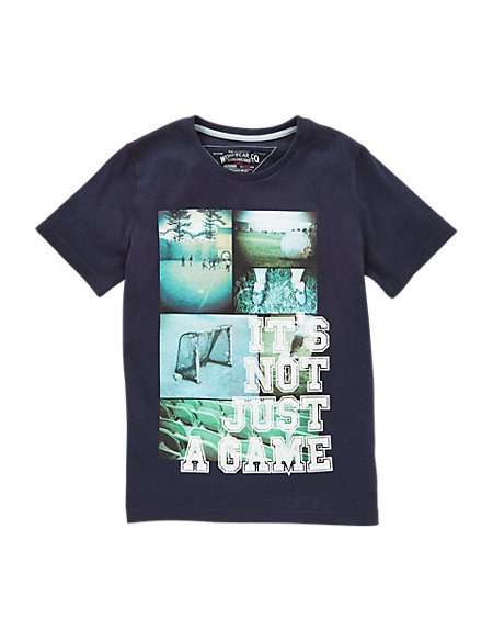 Pure Cotton 'It's Not Just A Game' Slogan Boys T-Shirt (5-14 Years)