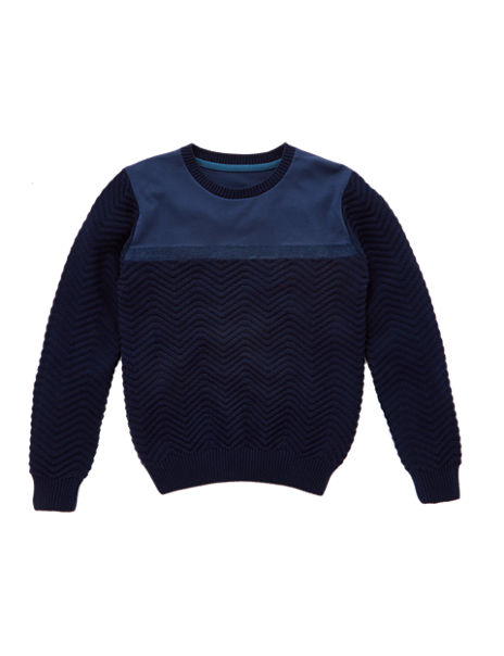 Pure Cotton Textured Jumper (5-14 Years)