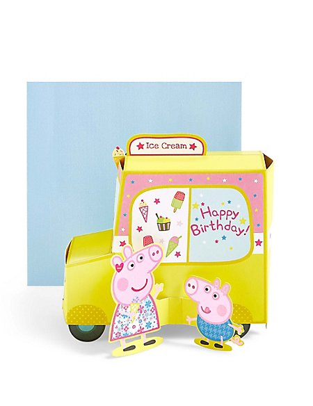 Pop-Up Peppa Pig™ Ice Cream Van Birthday Card
