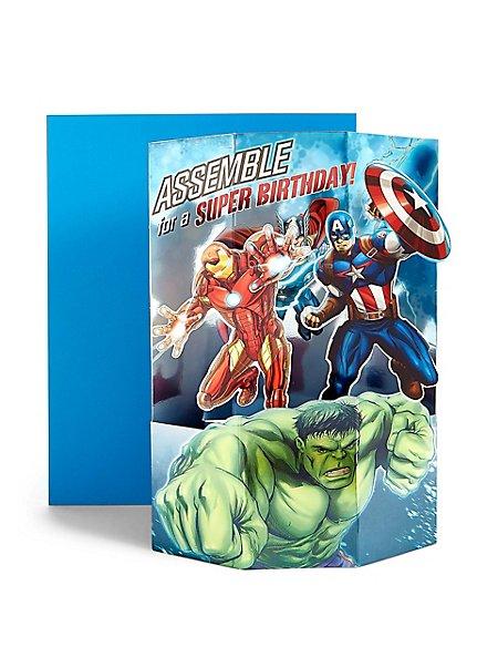Pop-Up Marvel Avengers™ Assemble Birthday Card