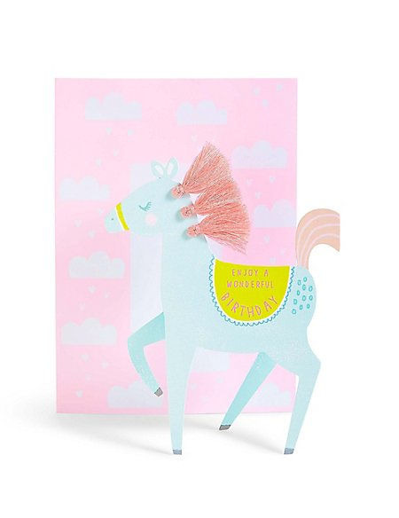 Cut Out Horse Birthday Card