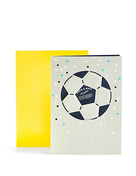 Laser Cut Football Birthday Card