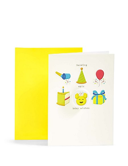 Emoji Icons Birthday Card