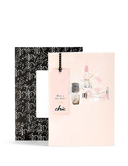 Truly Chic Make Up Icon Birthday Card