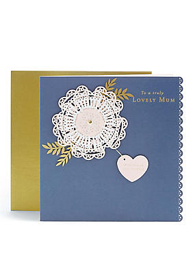 Lovely Mum Laser Cut Floral Birthday Card