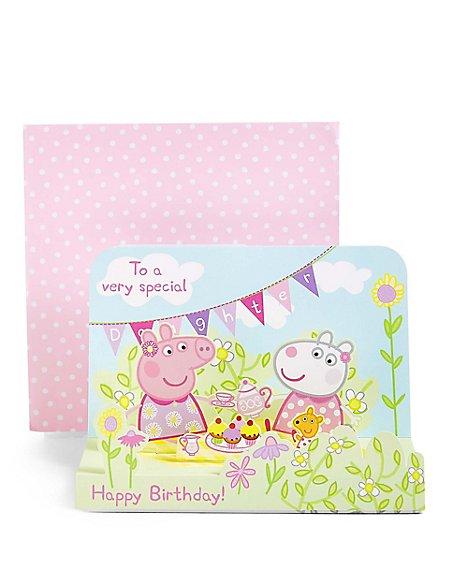 Pop-Up Peppa Pig™ Scene Daughter Birthday Card