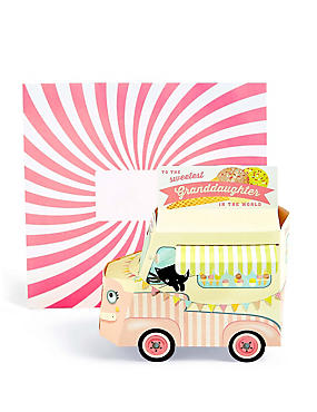 Pop-Up Ice Cream Van Granddaughter Birthday Card