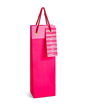 Hooray Hot Pink Bottle Bag