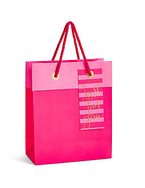 Gift boxes gift wrapping paper ribbons gift tags ms just for you hot pink medium gift bag negle Image collections