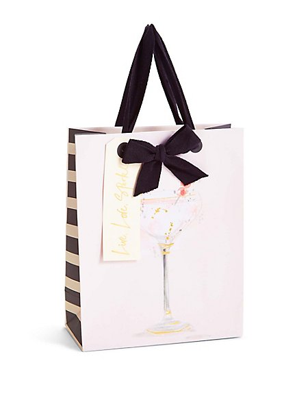 Watercolour Cocktail Medium Gift Bag