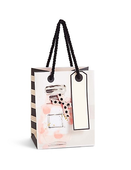 Watercolour Perfume Bottle Small Gift Bag