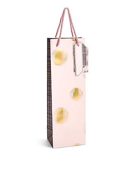 Gold Spot Print Bottle Bag