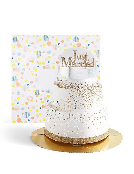 3D Tiered Wedding Cake Card