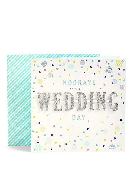 Hooray Wedding Day Card