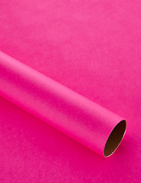 2m Bright Pink Wrapping Paper