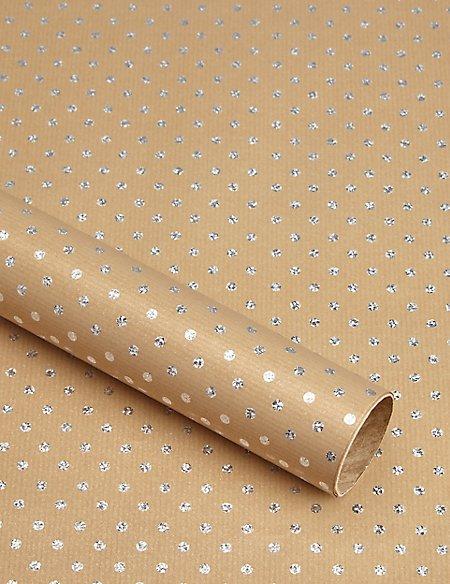 Metallic Spot 1.5 Metre Gift Wrap