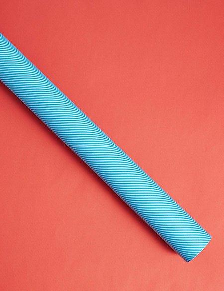 Double Sided Blue Stripe & Orange Roll Wrap