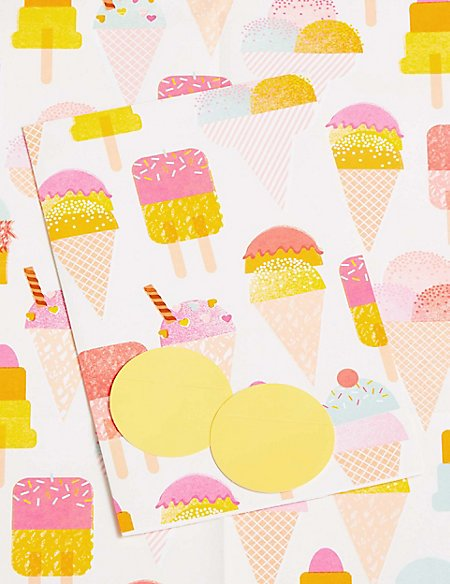 Ice Cream Sheet Wrapping Paper