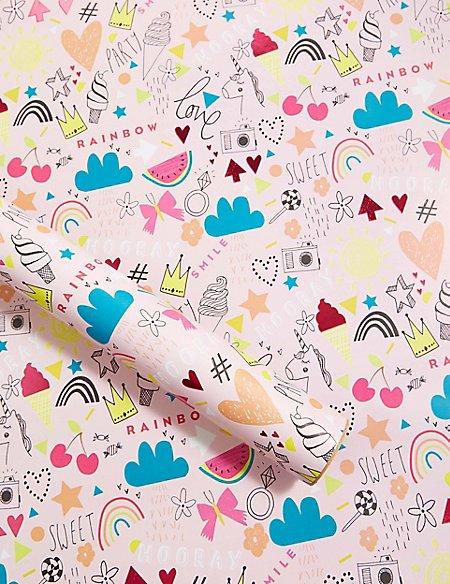Fun Girl Icons Roll Wrap