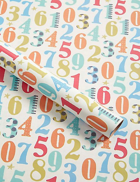 Colourful Numbers Roll Wrap