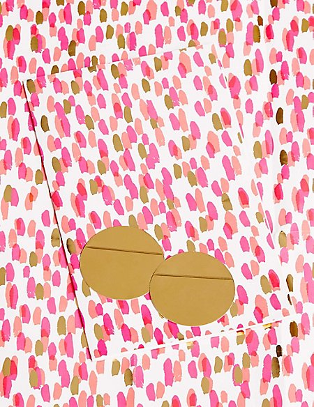 Gold and Pink Marks Sheet Wrapping Paper