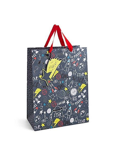 Space Illustration Large Gift Bag
