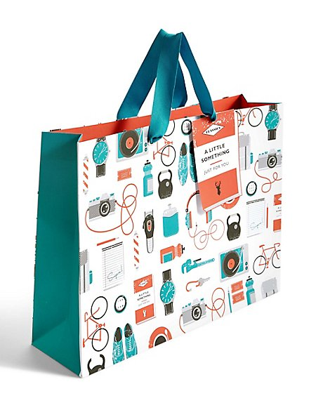 Male Icons Large Gift Bag