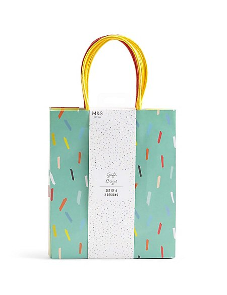 Set of 6 Medium Gift Bags