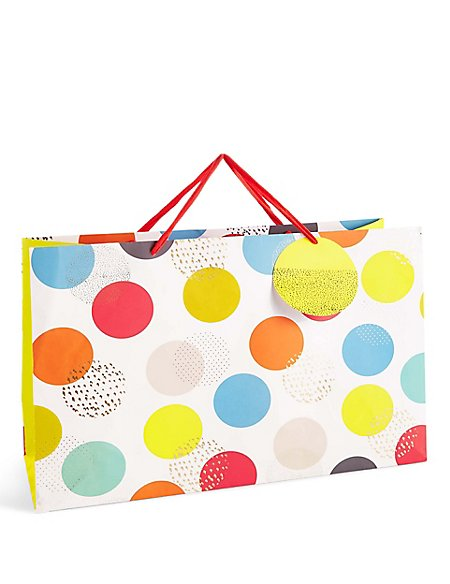 Bright Oversized Spot Print Extra Large Gift Bag