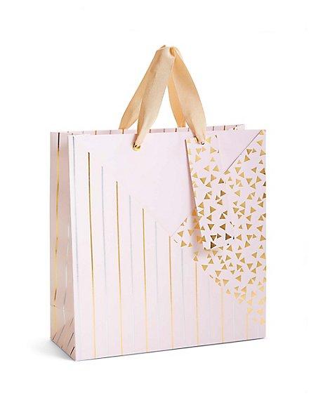 Pink Gold & Silver Pattern Medium Gift Bag