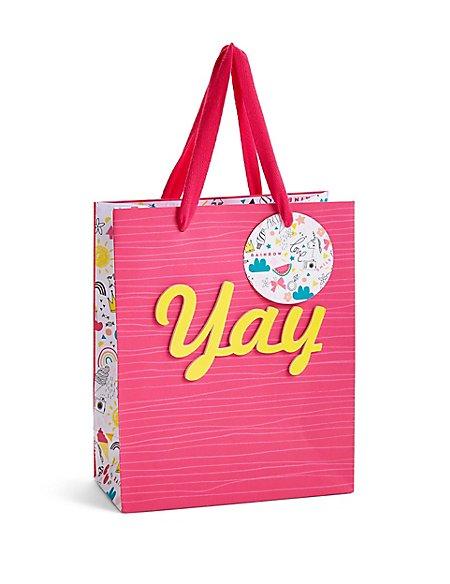 Yay Contemporary Illustration Pink Small Gift Bag