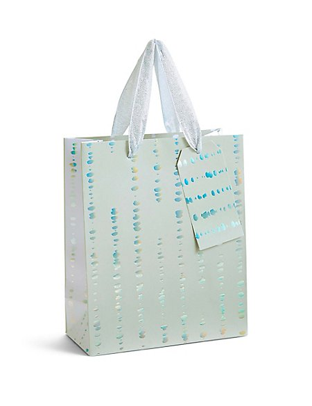 Holographic Silver & Grey Medium Gift Bag