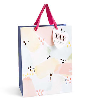 Let's Celebrate Watercolour Spot Large Gift Bag