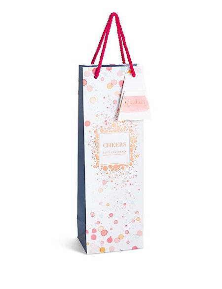 Let's Celebrate Watercolour Spot Bottle Bag