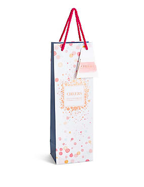 Birthday gift bags wrapping paper accessories ms lets celebrate watercolour spot bottle bag negle Gallery