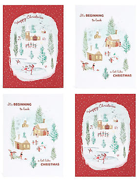 Winter Scene Christmas Charity Cards Pack of 20