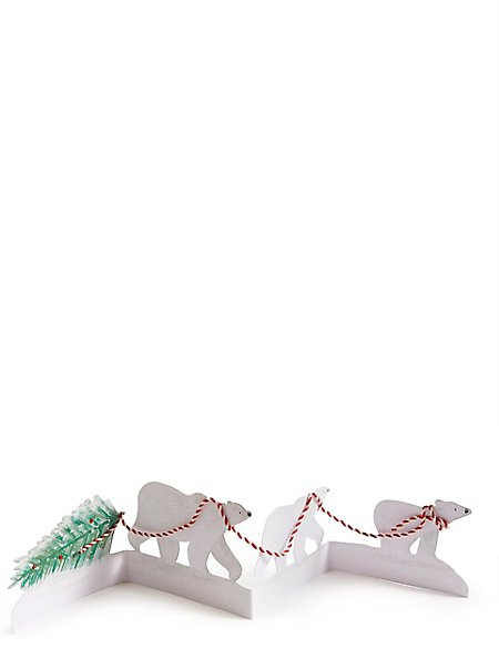 Polar Bear Cut Out Christmas Charity Cards Pack of 4