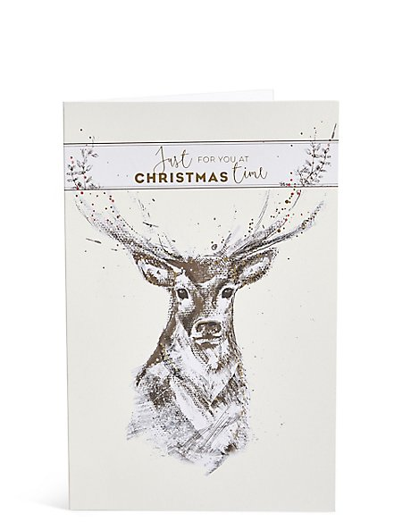 Stag Christmas Charity Cards Pack of 15