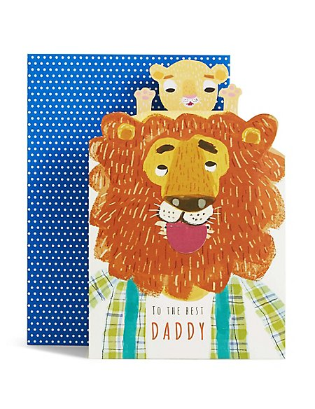 Pop-up Lion & Cub Father's Day Card