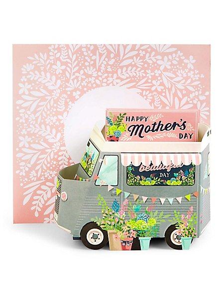 Pop-up Flower Shop Van Mother's Day Card