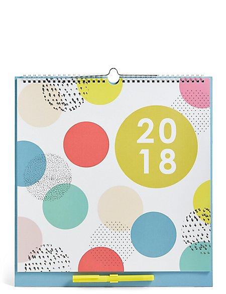 Bold Pattern 2018 Family Organiser